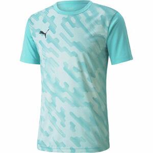 Puma INDIVIDUAL RISE GRAPHIC TEE  L - Pánské fotbalové triko