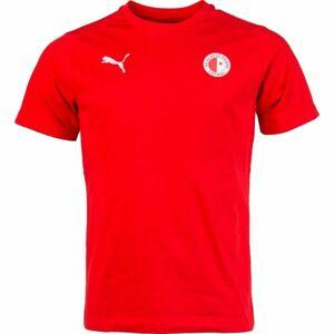 Puma LIGA CASUALS TEE SLAVIA červená M - Pánské sportovní triko