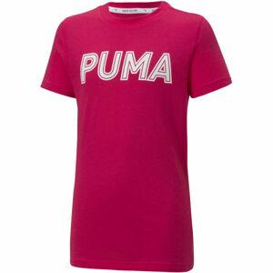 Puma MODERN SPORTS LOGO TEE G  128 - Dívčí triko