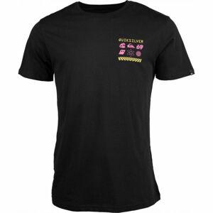 Quiksilver SLOW BURN SS černá M - Pánské tričko