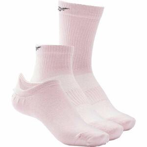 Reebok TE ALL PURPOSE SOCK 3P růžová S - Ponožky