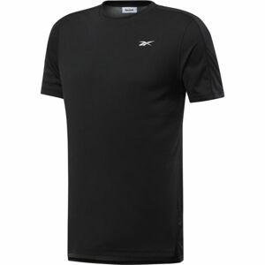 Reebok WORKOUT SS TECH TEE černá L - Pánské triko