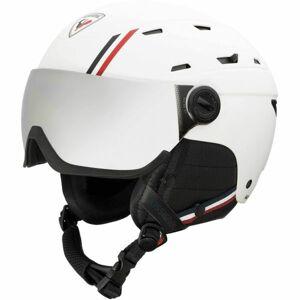 Rossignol ALLSPEED VISOR IMP STRATO bílá M - Pánská lyžařská helma