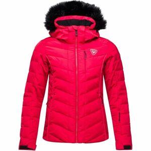 Rossignol W RAPIDE PEARLY JKT červená L - Dámská lyžařská bunda