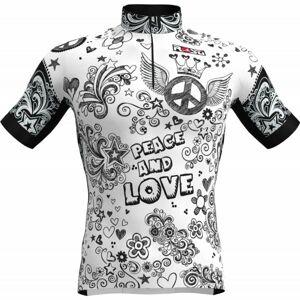 Rosti PEACE AND LOVE bílá 4xl - Pánský cyklistický dres