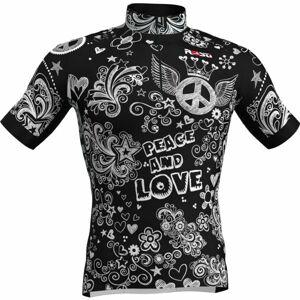 Rosti PEACE AND LOVE černá 5xl - Pánský cyklistický dres