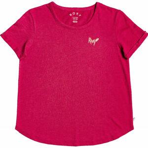 Roxy OCEANHOLIC červená M - Dámské tričko