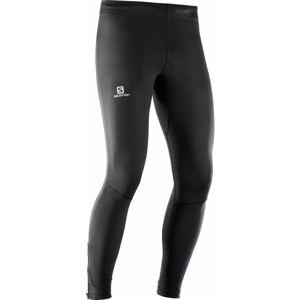 Salomon AGILE LONG TIGHT M černá S - Pánské běžecké kalhoty