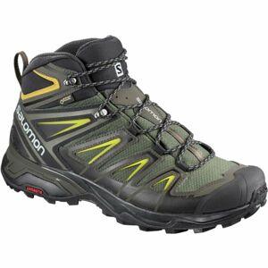 Salomon X ULTRA 3 MID GTX tmavě zelená 9 - Pánská hikingová obuv