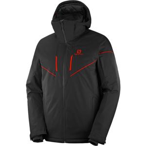 Salomon STORMRACE JKT M černá S - Pánská lyžařská bunda