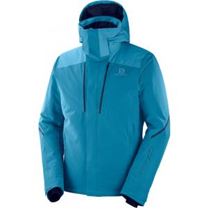 Salomon STORMSEASON JKT M modrá S - Pánská lyžařská bunda