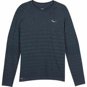 Saucony DASH SEAMLESS LONG SLEEVE šedá M - Pánské běžecké triko
