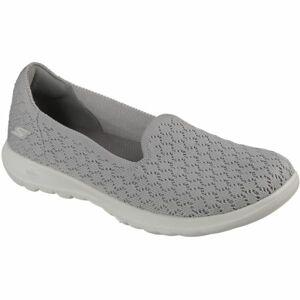 Skechers GO WALK DAISY šedá 39 - Dámské slip-on tenisky