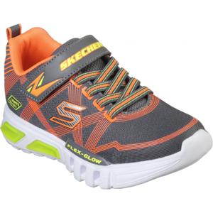 Skechers S-LIGHTS: FLEX-GLOW tmavě šedá 30 - Chlapecké blikající tenisky
