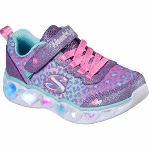 Skechers HEART LIGHTS SHIMMER SPOTS  34 - Dětská volnočasová obuv