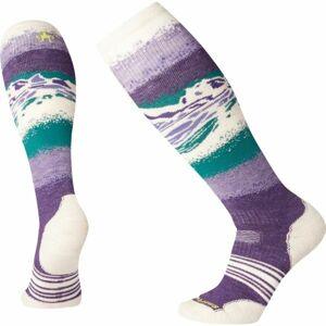 Smartwool PHD SNOW MEDIUM fialová L - Dámské lyžařské ponožky