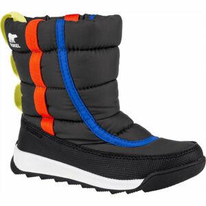 Sorel YOUTH WHITNEY II PUFFY M černá 12 - Dětská unisex zimní obuv