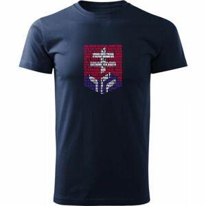 Střída LOGO Z HYMNY SVK tmavě modrá 2xl - Pánské triko
