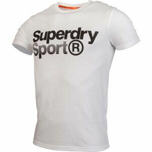 Superdry CORE SPORT GRAPHIC TEE bílá S - Pánské tričko