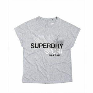 Superdry CORE SPLIT BACK TEE šedá 8 - Dámské tričko