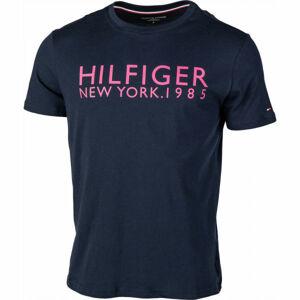 Tommy Hilfiger CN SS TEE LOGO  S - Pánské tričko