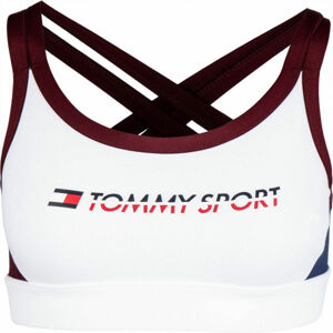 Tommy Hilfiger CO/ EL LOW SUPPORT BRA LOGO bílá XS - Dámská podprsenka