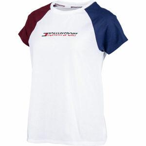 Tommy Hilfiger COTTON MIX TOP LOGO bílá M - Dámské tričko