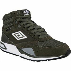 Umbro REDHILL HIGH W PROOF tmavě zelená 9 - Pánská volnočasová obuv