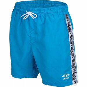 Umbro TAPED SWIM SHORT modrá XL - Pánské plavecké šortky