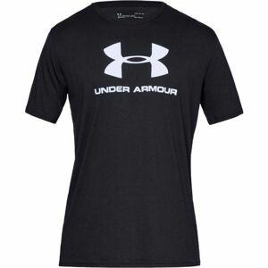 Under Armour SPORTSTYLE LOGO SS černá L - Pánské triko