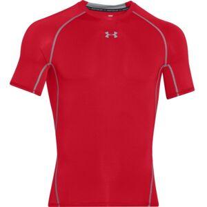 Under Armour ARMOUR HG SS T červená XL - Pánské triko s krátkým rukávem