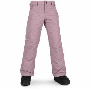 Volcom FROCHICKIDEE INS PNT růžová L - Dívčí lyžařské/snowboardové kalhoty