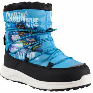 Warner Bros CHILLIN modrá 34 - Dětská zimní obuv